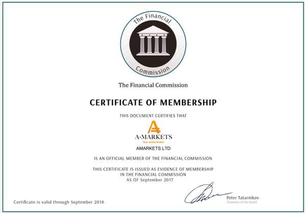 Aforex certificate